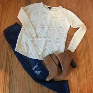 American Eagle Oversized Cream Sweater